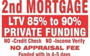 2ND MORTGAGES NO APPRAISAL NO INCOME NO CREDIT REQUIRED