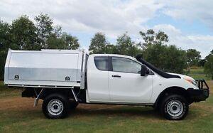 2012 Mazda BT-50 UP0YF1 XT Freestyle White 6 Speed Manual Cab Chassis Bundaberg West Bundaberg City Preview