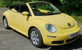image for Volkswagen BEETLE 1.4 Luna Convertible 2008/58 Retro Convertible *In Mellow Yellow*
