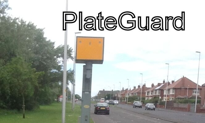 Custom Car a PAIR of Number Plate Camera Flash and Damage Protect by PlateGuard