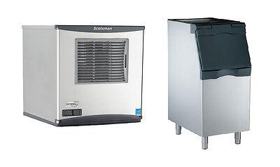 Scotsman 450lb Prodigy Flake Ice Machine Air Cool 370lb 22 Ice Bin