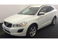 WHITE VOLVO XC60 2.4 D4 AWD R DESIGN LUX  2.0 SE 2WD G/T FROM £67 PER WEEK