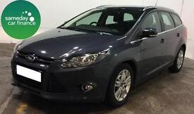 £160 PER MONTH GREY 2014 FORD FOCUS 1.6 TDCi TITANIUM NAVIGATOR ESTATE MANUAL