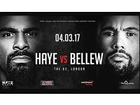 Haye vs Bellew x2 tickets seated together