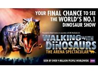 Walking with Dinosaurs - The Arena Spectacular at the O2. Wed 15th Aug. 5th Row from the front !