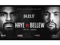 2x Haye Bellew Great Tickets - At the front! Section 112 Row B!