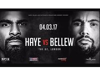 David Haye v Tony Bellew - Floor Level - Block E2 Row A