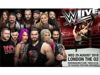 X2 WWE Live August 29th o2 arena London Block A1, Row L