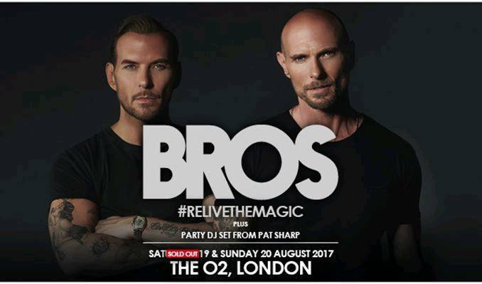 2x BROS Tickets for Sunday 20th August @ The O2 Arena