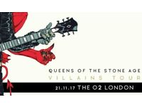 2 Tickets for Queens of The Stoneage at the O2 arena on 21.11.17