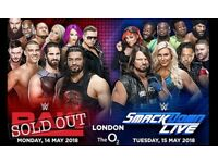 WWE Smackdown O2 London 15/05/18 - 2 VIP Box seat tickets