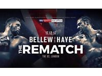 *Face Value* Bellew vs Haye 2 Tickets (3 seated together)
