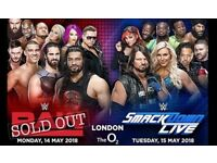 WWE SMACKDOWN TICKETS - O2 ARENA 15/05/2018