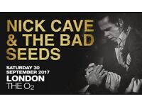 2x Nick Cave seating tickets, The O2, London, 30 September, £80