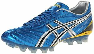 Asics LETHAL FLASH DS IT Mens Soccer Cleats Shoes sz 13 NEW BLUE BLACK WHITE
