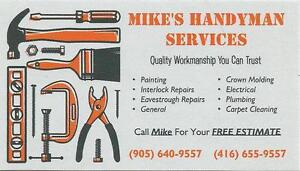 Mike Z  Handyman     905-640-9557 / CELL #  416-655-9557