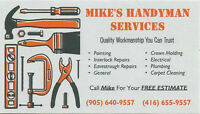 Mike's Handyman & Home Improvement Services ***416-655-9557