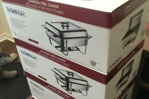 TWO STAINLESS CHAFING DISHES - NEW IN BOX