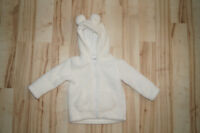 GIRLS Ivory Hooded Sweater with Ears (18-24mnths) - $5.00!!!
