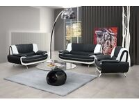 Passero Faux Leather Sofa Range 3+2+1 seater 4 colours also in corners Bargain Price Brand New