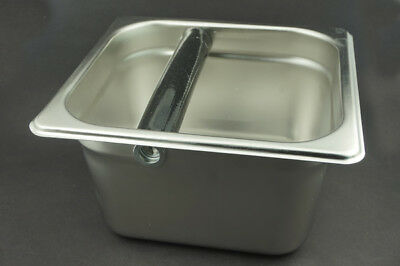 Stainless Steel Spent Coffee Machine Slag Grind Container Espresso Knock Box
