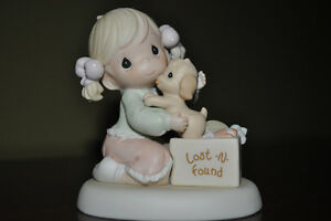 Precious Moments - Girl and Puppy Figurine