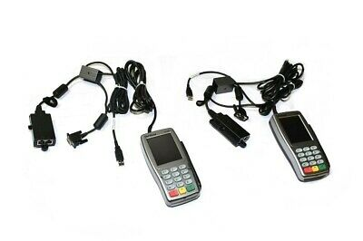 Lot Of 2 Verifone Vx820 Card Payment Terminal W Ethernet Hub Dongle