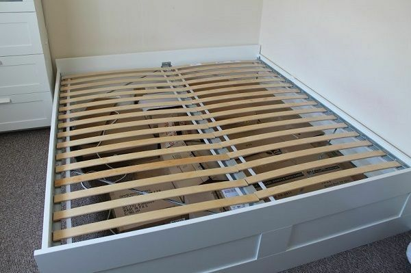 ikea brimnes bed frame with luroy base