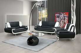 Brand new*** Black/white, black/red, brown/cream or full black sofa sets and corner suites