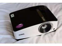 HD PROJECTOR: BenQ 720p DLP projector w/HDMI and remote. 60 HOURS! 120 inch screen!