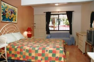 yes is true; a condo in beachtown of Sosua from 25. nite