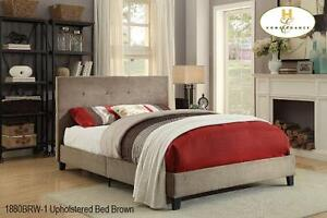 Upholstered bed frame by Mazin