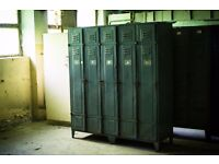 Vintage Metal Lockers Factory Storage, Big WARDROBE, Cabinet, Retro, Industrial