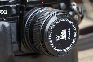 Canon FD 50mm f1.4 with FD-NEX for sony mirrorless.