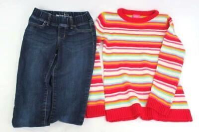 Girls Outfit French Toast Pink Striped Sweater & Gap Kids Legging Jeans Med 10 - French Toast Kit