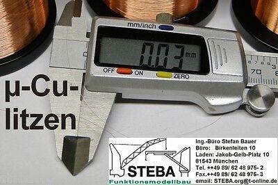 Feinste µ- Kupferlitze 100µm/5m von STEBA 8830