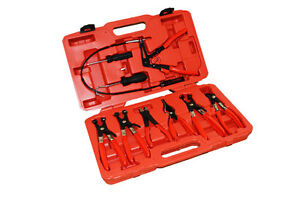 10 PC DELUXE MECHANIC HOSE CLAMP RING PLIERS TOOL SET KIT