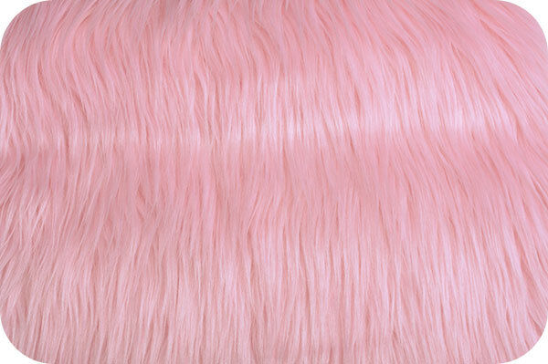 Pink Mongolian Faux Fur Photo Prop Newborn Nest 18 x 20 Inches Photography
