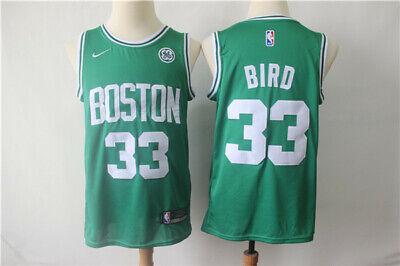 BIRD CAMISETA DE LA NBA DE LOS CELTICS VERDE. TALLA S,M,L,XL.