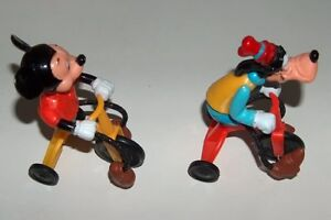 Vintage 1977 Set of Mickey Mouse and Goofy on Tricycles London Ontario image 2