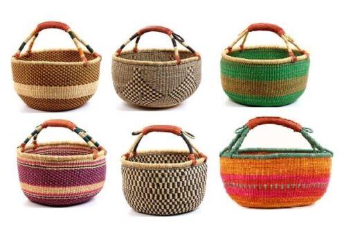 "Extra Large African Bolga Ghana Market Basket 16""-18"" Across (COLORS VARY)"