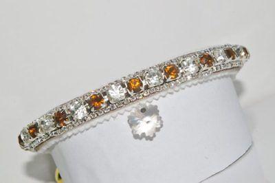 Christmas sparkle GOLDEN TOPAZ and DIAMOND SNOWFLAKE AUSTRIAN CRYSTAL CAT COLLAR