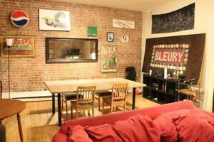 Sub-let bedroom in sweet apartment downtown Montreal