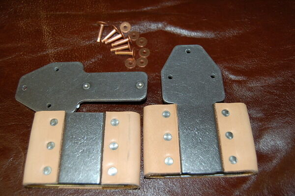 """3""""~Blevins Buckle Pair~Saddle~Vertical  with Rivets & Burrs FREE SHIPPING USA"""