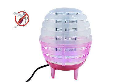 Mosquitera Eléctrica Mosquitos Lámpara Luz LED Insecticida Linterna Ql 360