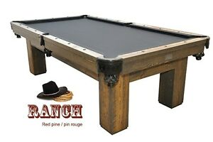 New Country style **Ranch** Pool Table by Canada Billiard