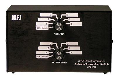 MFJ-4726 Six-Position Remote Antenna / Transceiver Switch, Usable 1.8 - 150 MHz Mfj Antenna Switch