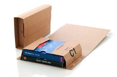 5 x Bukwrap DVD Book Wrap Postal Mailers C1 216x154mm Amazon Style Wrapper