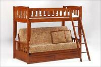 Futon Bunk Bed - New - 5 Finishes - By BunkBedsCanada.ca