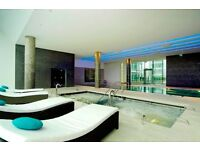 1-Bed Luxury Flat. 525 sq.ft. Pan Peninsula Square. 23rd Floor. Private Cinema, Pool, Jacuzzi, +more